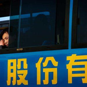Bussresenär i Peking, Kina Foto: Kjell Fredriksson