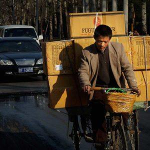 Cykelbud i Shanghai, Kina Foto: Kjell Fredriksson